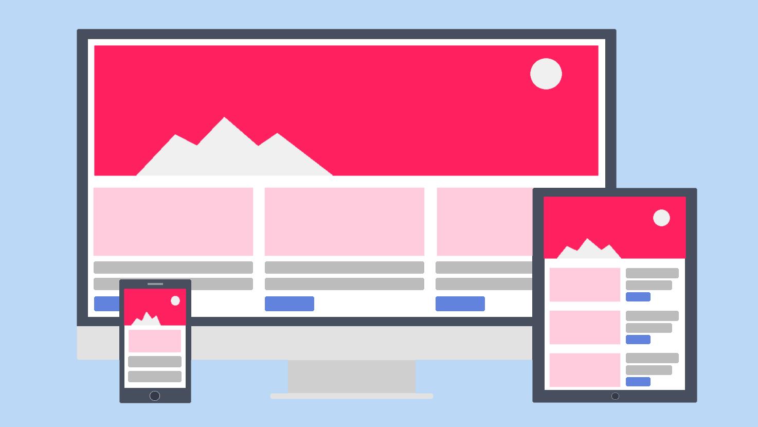 レスポンシブウェブデザインのイメージ画像
